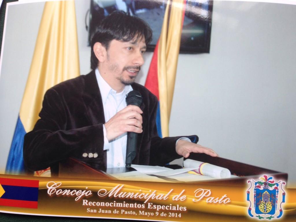 Dirigent Luis Munoz über das Austrolatin Orchester im Kongress von Pasto Kolumbien