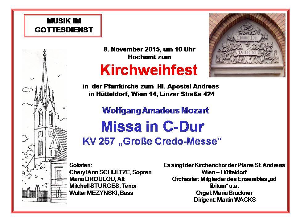 Kirchweihfest-2015 Grosse Credo Messe Mozart