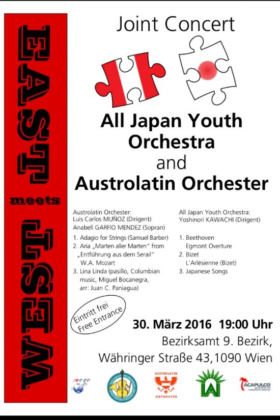 East meets West: Austrolatin Orchester meets All Japan Youth Orchestra