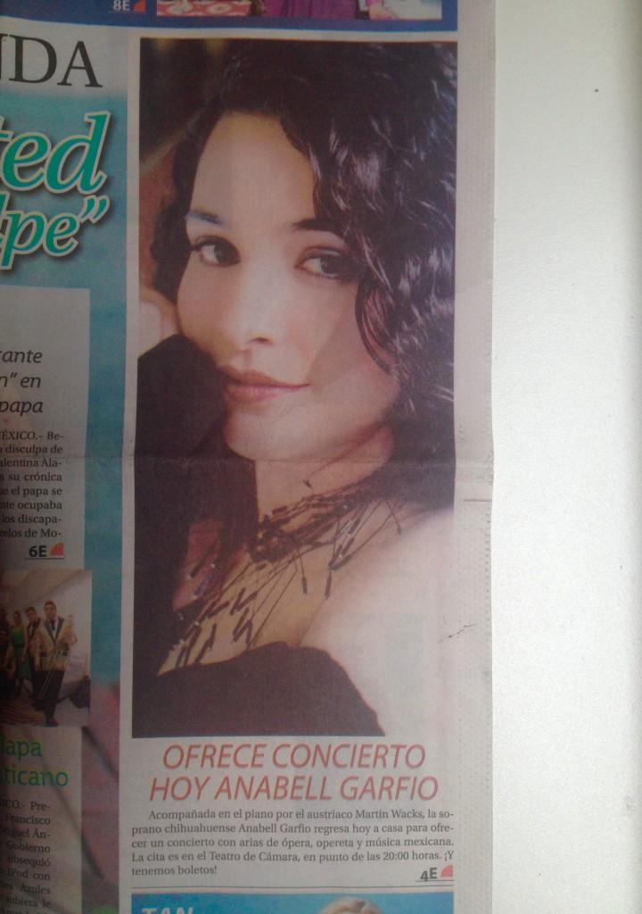 Press Heraldo de Chihuahua1 Feb 2016 Anabell Garfio Méndez