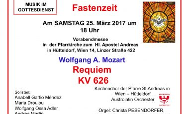 Mozart Requiem in der Fastenzeit