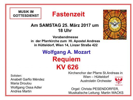 Mozart Requiem in der Fastenzeit