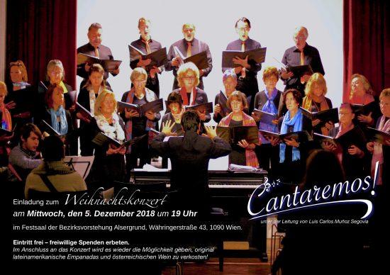 Cantaremos Weihnachtskonzert