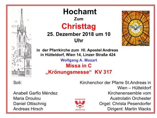 Mozart Krönungsmesse zu Weihnachten