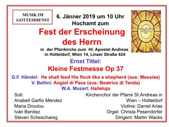 Dreikönig Kleine Festmesse von Tittel