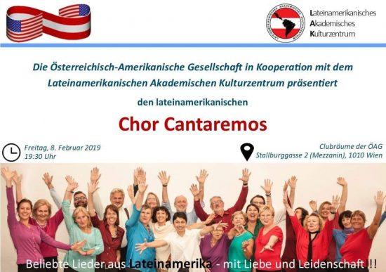 Cantaremos Konzert in der Österreichisch-Amerikanischen Gesellschaft in Wien