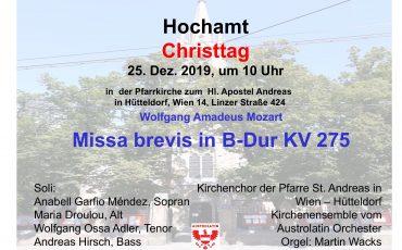 Weihnachten Messe zum Christtag