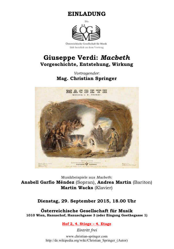 Springer Verdi Macbeth