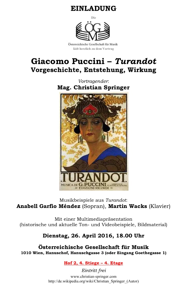 Springer Puccini Turandot