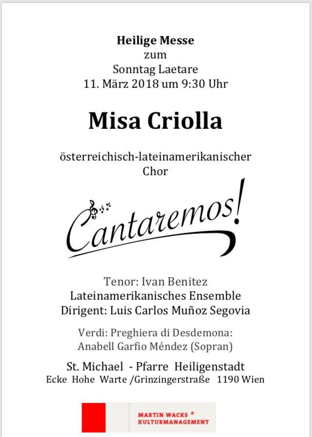 Misa Criolla in Wien