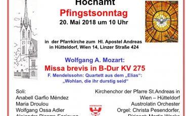 Mozart am Pfingstsonntag