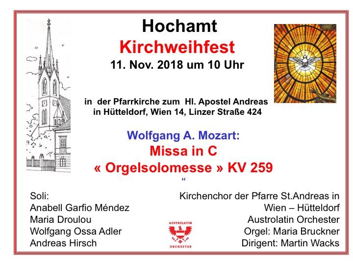 Mozart Orgelsolomesse