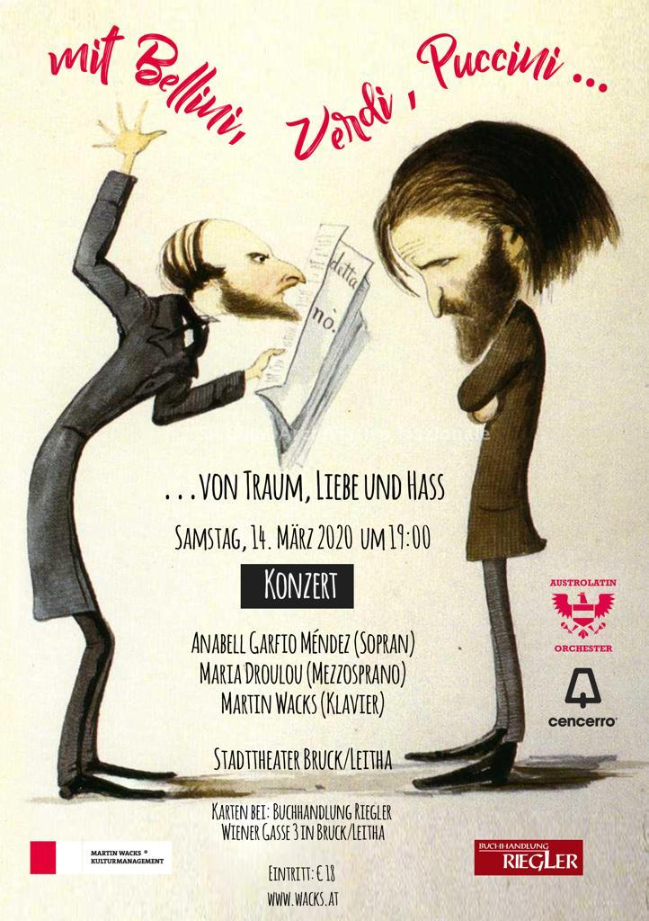 """Konzert """"…von Traum, Liebe und Hass"""" — in Bruck an der Leitha — ABGESAGT!!!"""
